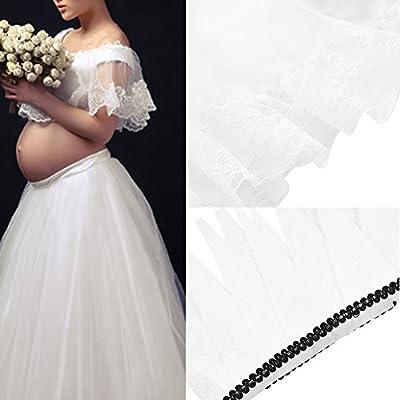 Falda de embarazada para fotografía 3 PCS Falda larga con chaleco superior y tocador Falda perfecto para fotografía Samber