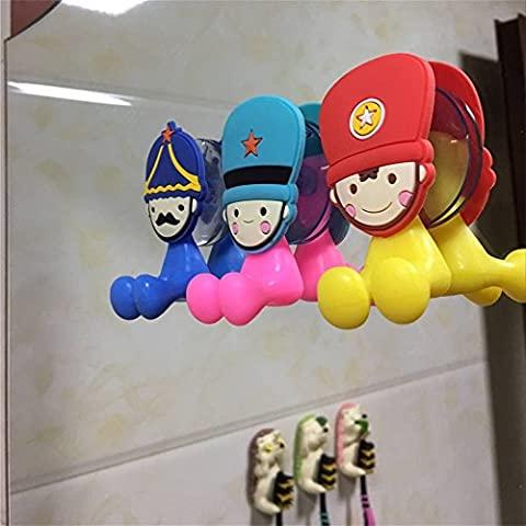 Kids Toothbrush Holder With Suction Cup(3PCs soldiers)