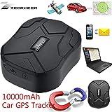 GPS Tracker Monitoraggio in Tempo Reale Posizionamento 150 Giorni Standby 10000mAh GSM/GPS Dispositivo di Localizzazione con Impermeabile Forte Magnete per Auto,Camion,Moto,Barca,Flotta (TK905B)