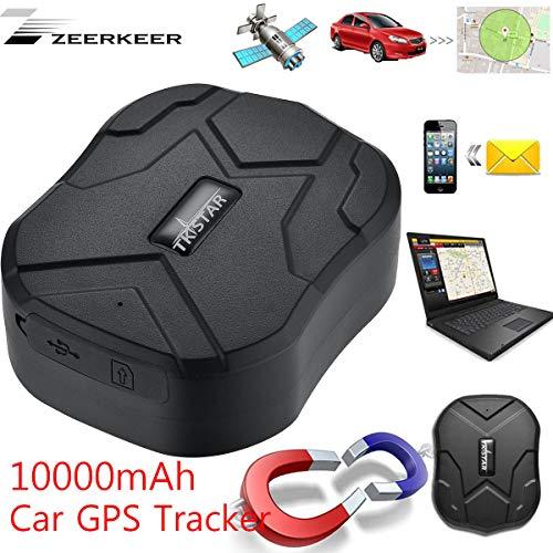 Zeerkeer GPS Tracker Monitoraggio in Tempo Reale Posizionamento Doppia modalità gssm/GPS Dispositivo di localizzazione Location 10000mAh per Auto, Un Camion, Moto congelatore, Barca ecc