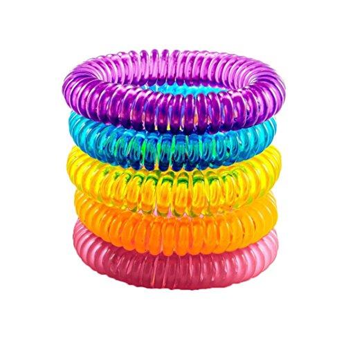 Covermason Anti Moskito Armband, 5 Stück Anti-Moskito Abwehrmittel Armbänder Natürlich Abwehrmittel Armbänder (Mehrfarbig)