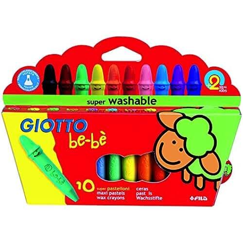mas dibujos kawaii Giotto be-bè 466800 - Estuche 10 súper ceras irrompibles de colores y sacapuntas