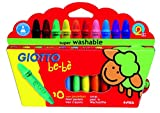 "Fila ""Be-Bé Washable Crayons with Sharpener (Pack of 10)"