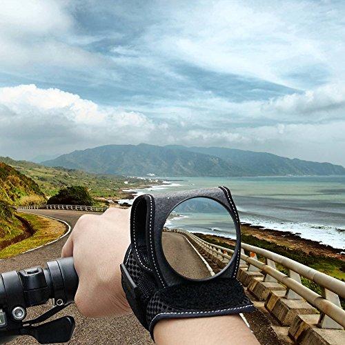 Yissvic Fahrradspiegel Universal Rückspiegel Fahrrad für Radfahren Mountainbike Verstellbar Schwarz