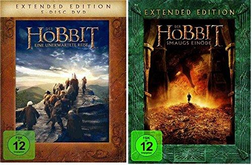 Der Hobbit: Teil 1+2 als Extended Edition * DVD Set (Eine unerwartete Reise + Smaugs Einöde) (Hobbit Eine Unerwartete Reise Dvd)
