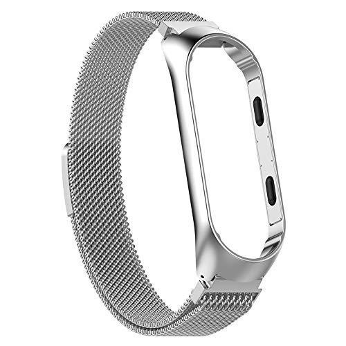 mejor precio ahorros fantásticos auténtico auténtico Everpert Correa Xiaomi Mi Band 3 Correa de Reloj de Acero Inoxidable  Milanés para Xiaomi MI Band 3 (Plata)
