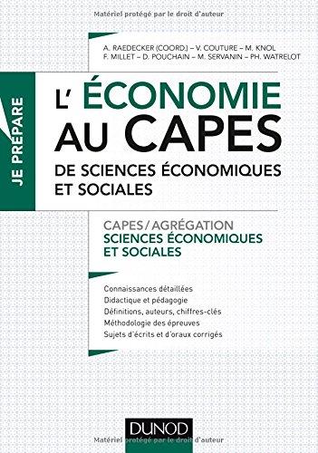 L'économie au CAPES de Sciences économiques et sociales