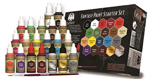 Grinning Gargoyle FPS001 - Fantasie Farben Starter Set - Acrylfarben für Miniaturen - 20x Sortierte 18ml Farben - Enthält einen Pinsel - Warpaints - Army Painter -