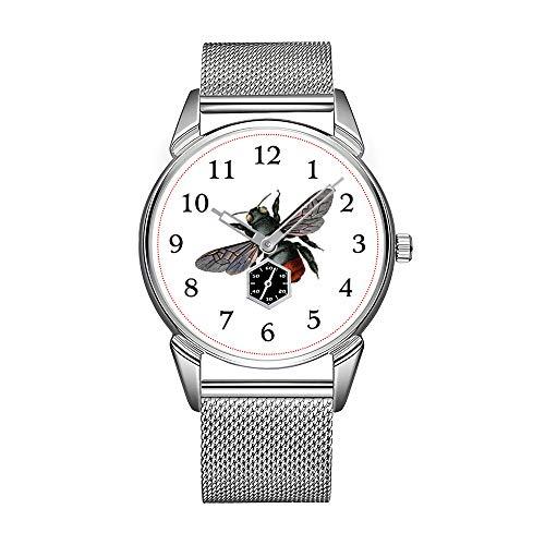Mode herrenuhr Silber Edelstahl wasserdicht Uhr männer top Marke herrenuhr Uhr antike Schreibmaschine Vintage Bild Armbanduhr