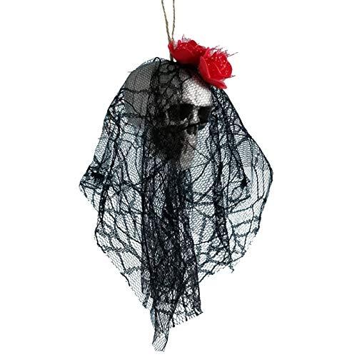 Aprigy - DIY Künstliche Schaum Schädel-Braut-Kleidung Halloween-Dekor Knochen Kopf Hängen Hauptdekorationen Festival Partyangebot [4 ]