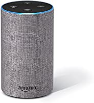 Amazon Echo (2nd Gen), Certified Refurbished, Grey – Smart speaker with Alexa – Like new, backed with 1-year w