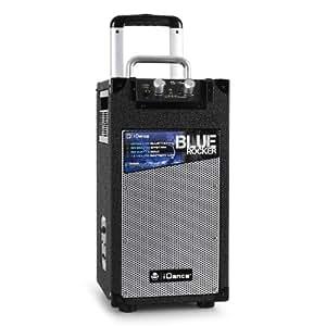 iDance BlueRocker portables Bluetooth-Sound-System (USB, AUX, Mikrofon-IN, Akku-Betrieb)