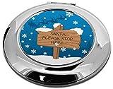 Advanta Group Taschenspiegel, rund, Motiv Weihnachtsstopp
