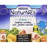 Nestlé Naturnes - Judías Verdes con Jamón - Paquete de 2 x 200 g - Total: 400 g