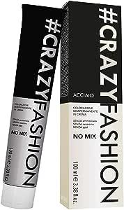 Crazy Fashion - Colorazione Semipermanente in Crema - Senza Ammoniaca, Resorcina e PPD - Tinta per Capelli Temporanea - Colore Acciaio - Tubo da 100 ml