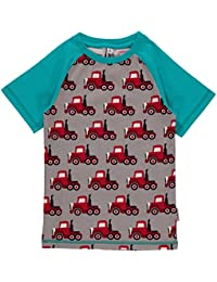 Maxomorra Top SS Slim Truck Jungen T-Shirt Schmaler Schnitt