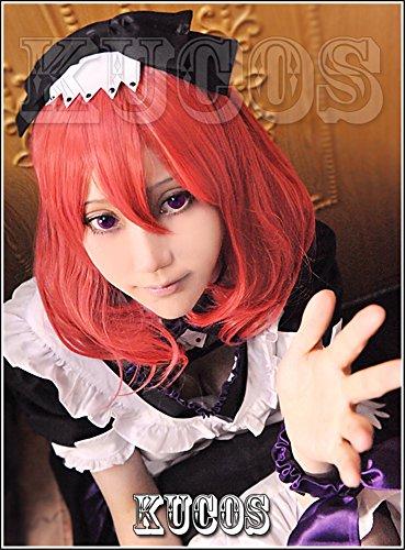 LanTing Cosplay Perücke Love Live Maki Nishikino Red Perücke Corta Frauen Cosplay Party Fashion Anime Human Costume Full wigs Synthetic Haar Heat Resistant Fiber - Live Love Maki Nishikino