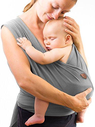 Babytragetuch - bei 60 Grad waschbar - für Neugeborene und Babys bis 15kg - inkl. Trageanleitung und Aufbewahrungsbeutel - liebevolles Design von Kreuzer -