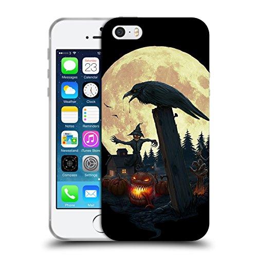 Offizielle Christos Karapanos Halloween Thema Horror 2 Soft Gel Hülle für Apple iPhone 5 / 5s / - Iphone Halloween-thema 5