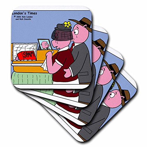 3drose-cst-2953-1-pig-funeral-spam-soft-coasters-set-of-4
