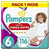Pampers - Premium Pants- Couches-culottes Taille 6 (+15 kg) - Pack 1 Mois (x116 culottes)
