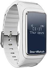 Fuibo Smartwatch,Blut Sauerstoffdruck Pulsmesser Schrittzähler Smart Watch Bluetooth Kopfhörer   Intelligente Armbanduhr Sport Fitness Tracker Armband (Weiß) (Weiß)