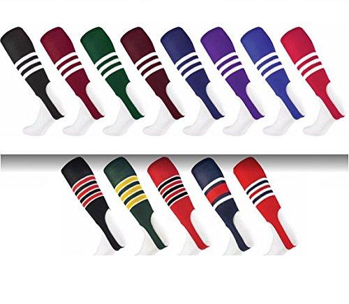 Baseball/Softball mehrfarbig Muster 17,8cm Steigbügel Socken (4Mustern/13mehrfarbig), Herren, Dunkelrot / Weiß