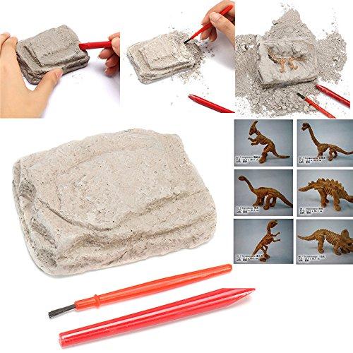 KINGDUO Dinosaur Fossils Excavation Kit Archäology Dig Up History Skeleton Fun Kids Gift Toys