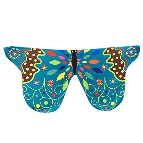 Fixuk colorful Soft Fabric Schmetterling Flügel Tippet gestohlen Schal Ladies Fee Kostüm (5#) (Anführer Mädchen Kostüm)