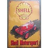 hotrodspirit plaque shell motorsport voiture ancienne affiche pub tole métal...