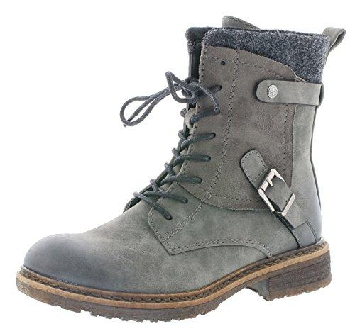 Rieker Damen Klassische Stiefel 94742,Frauen Boots,Schnürstiefel,Blockabsatz 3.8cm,Smoke/Smoke/anthrazit, EU 40
