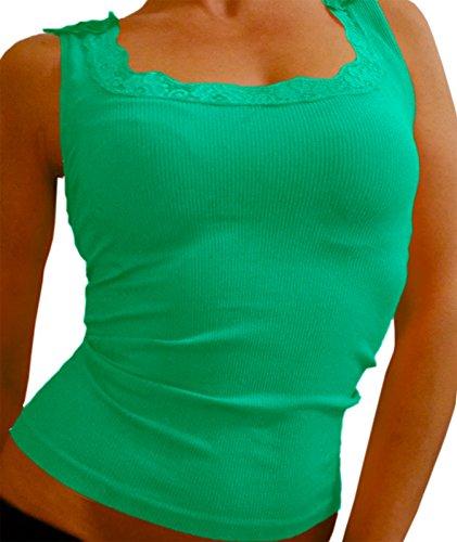 if she Top mit Stickerei, Größe:L/XL, Farbe:Mint (Frauen Rabatt Ca T-shirt)