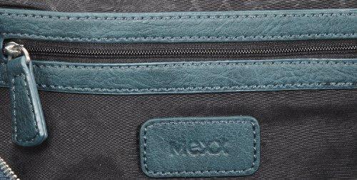 Mexx 13haw007 Zipper Satchel 3FHWB021, Damen Henkeltaschen 29x21x16 cm (B x H x T) Grün (Dark Persian Gr)