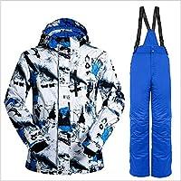 Erduo Traje de Pantalones de Chaqueta de esquí de Nieve Profesional de la Nieve Salvaje Traje a Prueba de Viento a Prueba de Viento al Aire Libre para Esquiar Snowboard para Hombres