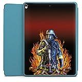Apple iPad Pro 12.9 (2017) Smart Case hellblau Hülle Tasche mit Ständer Smart Cover Feuerwehrmann Feuerwehr Firefighter