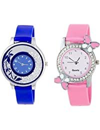 SPINOZA K-365K New ButtrFly Case Desing And Fancy Flower On Glass Watchs For Girls And Women