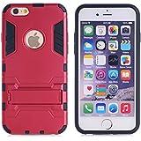 Casefashion® Funda Resistente al Impacto Antideslizante Ligera con Soporte para Apple iPhone 5C Carcasa Protectora Antigolpes Anticaída Protector Case Cover - Rojo