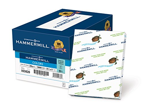 Hammermühle (Technik) Papier, Farben blau, 9kg, 8,5x 11, Buchstabe, 5000Blatt/10Ries Fall (103309C), hergestellt in den USA Letter - 8.50
