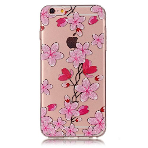 iPhone 6 Plus / 6S Plus (5,5 Zoll) Hülle,iPhone 6 Plus / 6S Plus (5,5 Zoll) Case, Cozy Hut TPU Silikon IMD Technologie Handy tasche Handycover Tasche Hülle Kunst Gemalt Backcover Schutzhülle Handyhüll Rosenblätter