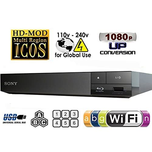 51OULs%2BzXXL. SS500  - 2015 SONY BDP-S3500 Multi Zone All Region Code Free Blu Ray WI-FI - DVD - CD Player - PAL/NTSC - Worldwide Voltage 100~240V - Comes with UK Style Power Supply for use in UK. By MultiSystem-Electronics