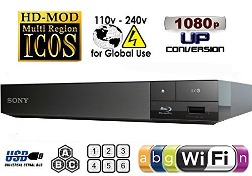 SONY BDP-S3500 Multi Zone All Region Code Free Blu Ray Player mit...