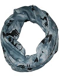 9af785c42bbf1c MANUMAR Loop-Schal für Damen | Hals-Tuch in verschiedenen Farben mit Tier  Motiven als perfektes Herbst Winter Accessoire |…