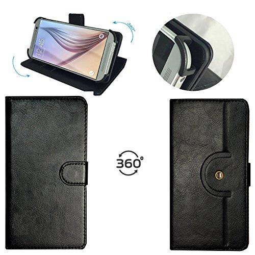 Handy Schutz Hülle | für Mobistel Cynus F10 | 360° Drehbare Funcktion |- 360° Haken PU M Schwarz