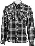 Bores Lumberjack Jacken-Hemd, Reißfest, Wasserabweisend, Grau-Schwarz-Weiss Kariert, Größe XL