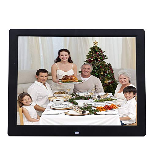 ZYLFN 14 Zoll Digital Photo Frame High Resolution Widescreen LCD, MP3 Music 1080P HD Video Playback, Auto On/Off Timer,Black - Digital Zoll 14 Photo Frame