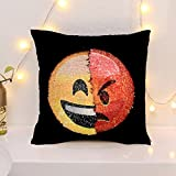 Kissenbezug, Pailletten, Magic Reversible Emoji Sirene Kissenbezug Sofa Throw Pillow Cover...
