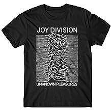 LaMAGLIERIA Camiseta Hombre - Joy Division Camiseta con Stampa Rock 100% algodone