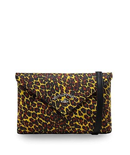 Vivienne Westwood Accessories Da Donna leopardo stampa busta Pochette Giallo Giallo
