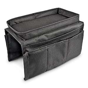 relaxdays 10017194 organiseur pliant noir plateau pour. Black Bedroom Furniture Sets. Home Design Ideas