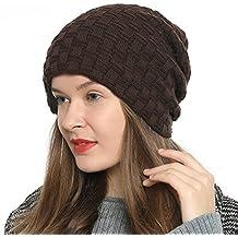 DonDon Mujeres Gorro de invierno Estilo flexible con interior forrado muy  suave y cómodo 45ccafbba2d